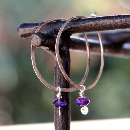 Amethyst Spirals and Hoops
