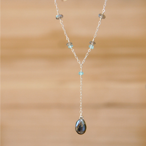 "Labradorite ""Y"" Drop Necklace"