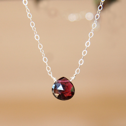 Simplicity Garnet Necklace