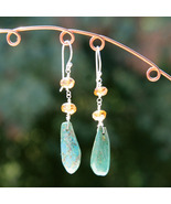 Turquoise and Citrine Earrings - $25.00