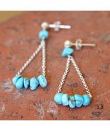 Turquoise Nugget Swing Earrings - $32.00