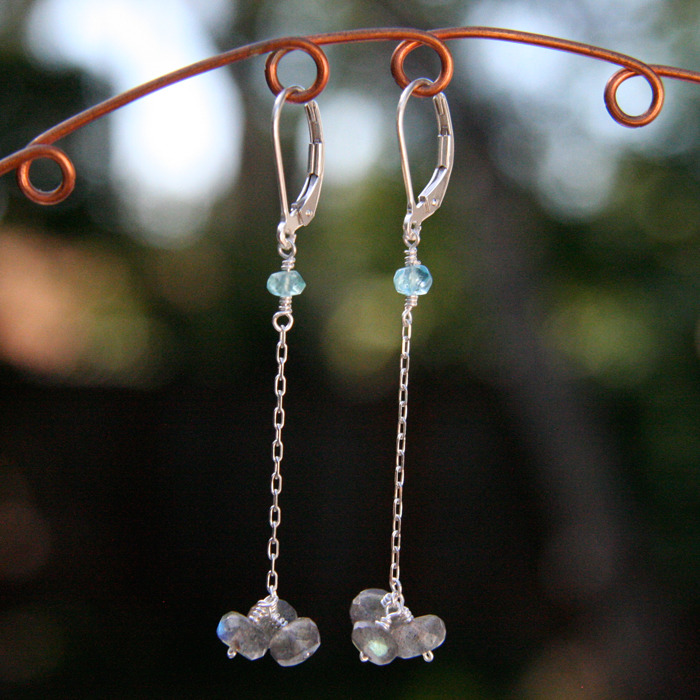 Labradorite Trio Earrings