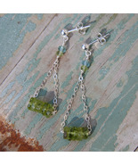 Peridot Swing Earrings - $32.00