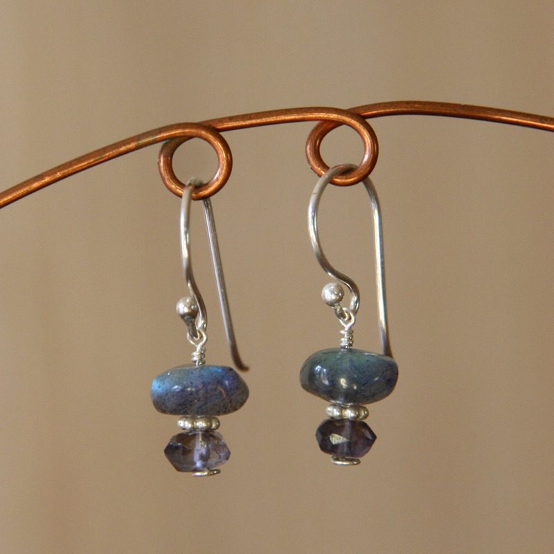 Labradorite and Iolite Earrings