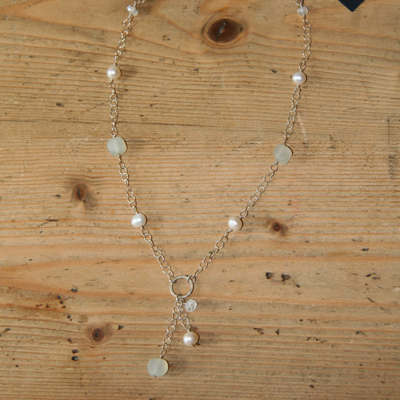 Morning Mist Silver Dangle Necklace