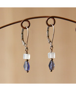 Iolite and Quartz Earrings - $20.00