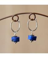 Lapis Hoop Earrings - $18.00