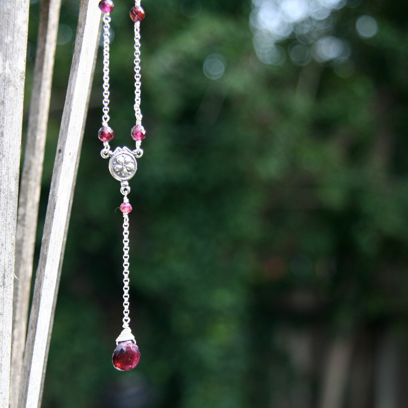 Why, oh, why? Garnet Necklace