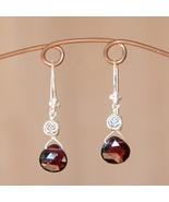 Garnet Drop Earrings - $22.00