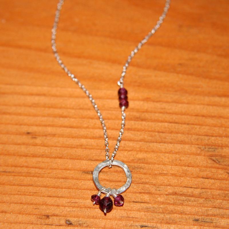Silver & Garnets Necklace