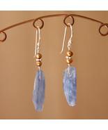 Kyanite and Pearl Earrings - $20.00