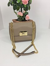 Michael Kors Sloan Chained Convertible Bag Small Beige Pebbled Leather B2S - $96.70