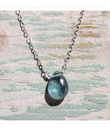 Moss Aquamarine Simplicity Necklace - $32.00