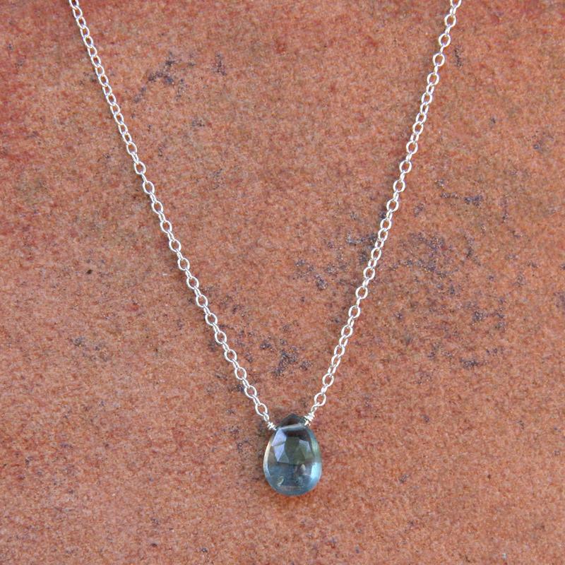 Moss Aquamarine Simplicity Necklace
