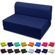 "NEW! Sleeper Chair Folding Foam Bed 70""x23""x5"" Navy Blue US - ₨10,440.44 INR"