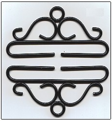 "Primary image for Black Wrought Iron Bellpull pair 28cm (11"") 80528 Lene Boje"