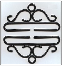 "Black Wrought Iron Bellpull pair 28cm (11"") 80528 Lene Boje  - $28.80"