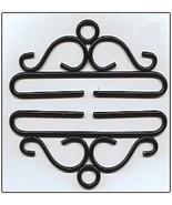 """Black Wrought Iron Bellpull pair 28cm (11"""") 80528 Lene Boje  - $28.80"""