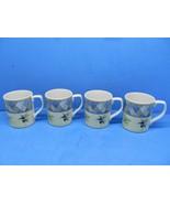 "Royal Doulton Carmina 3 5/8"" Olives Lemons Tree Coffee Mugs Set Of 4 Mug... - $18.62"