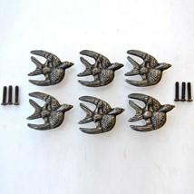 Vintage Cast Iron Flying Eagle Cabinet Drawer Door Knobs Handles Pull Ru... - $27.72