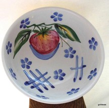 """"""" Ancora Italy Coupe Soup Cereal Bowl  Fruit Strawberry and Blue Flowers 6"""" - $12.00"""