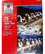 Home Accents Holiday Christmas Lights Universal Shingle/Gutter Clips 75 ... - $9.99