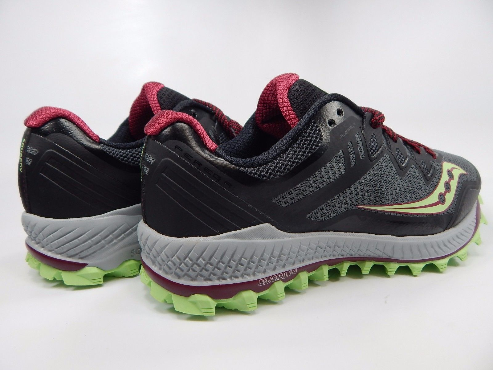 Saucony Peregrine 8 Women's Running Shoes Size US 8 M (B) EU 39 Black S10424-1