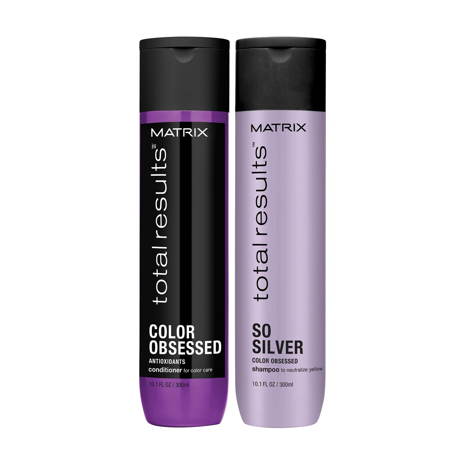 Matrix Total Results Color Obsessed So  Silver Shampoo Conditioner 10.1 oz  Duo
