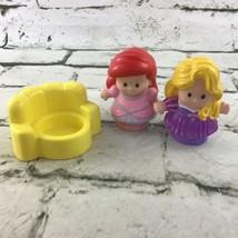 Fisher Price Little People Disney Princess Figures Lot Rapunzel Ariel W/... - $11.88