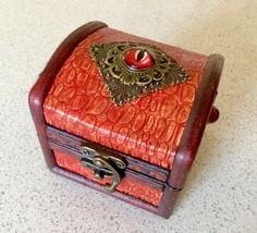 Fantasy Game of Thrones Red Fantasy Dragonskin Trinket Box - $12.50