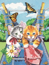 """Pencil Works Color By Number Kit 9""""X12"""" Kittens - $9.26"""