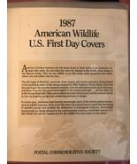 1987 American Wildlife U.S. First Day Covers~Postal Commemorative Societ... - $32.73