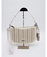 Coach White Chelsea All Over Studs Leather Crossbody Shoulder Bag Purse ... - $225.00