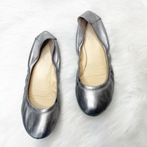 Cole Haan Grand OS Metallic Silver Leather Ballet Flats Women's Size 6.5 - $28.42