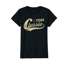 Funny Shirts - Classic Retro Made In 1944 74th Birthday Gifts 74 year old Wowen image 3