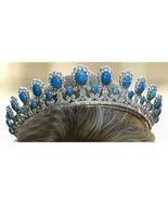 Royal Vintage Reproduction 12.20Ct. Rose Cut Diamond .925 Silver Tiara C... - $1,666.08