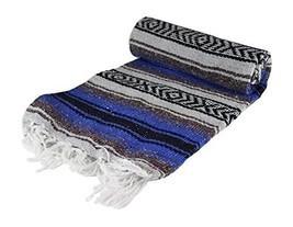 Authentic 6' x 5' Mexican Siesta Blanket (Random / Assorted) (Blue) - ₹920.90 INR