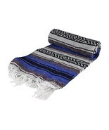 Authentic 6' x 5' Mexican Siesta Blanket (Random / Assorted) (Blue) - £10.01 GBP