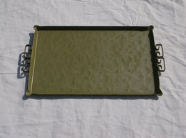 VINTAGE HAND MADE MOIRE GLAZE KYES SERVING TRAY - $9.79