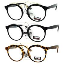 SA106 Nerd Double Metal Frame Keyhole Round Mens Eye Glasses - $12.95