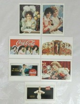 Set of 7 1991 Coca Cola Vintage Advertising Postcards Reproductions 1901... - $17.81