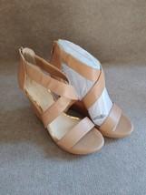 JESSICA SIMPSON Jadyn Women Wedge Sandal Shoes Size 11 Beige Brown NEW - $30.69