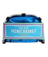 Easy Fold Picnic Basket (Blue) - $28.59
