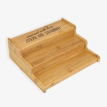 Renewable Bamboo 3-tier Cabinet Organizer Seasoned With Love Custom Spic... - $10.99