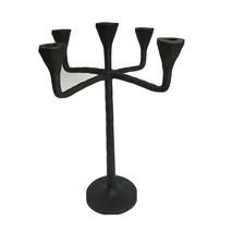 Pottery Barn Petaluma Cast Wrought Iron 5-Arm Taper Candle Holder Candel... - $89.00