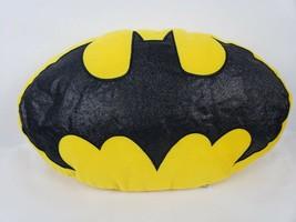 """DC Comics Batman 21"""" Throw Pillow Bat Signal Yellow Oval Plush Toy Factory - $22.98"""