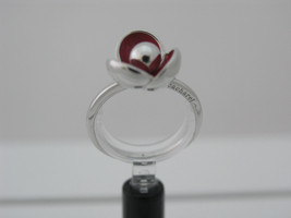 Ring Cacharel simple with red flower (CLR327R), Sterling Silver 0,925 - £31.90 GBP