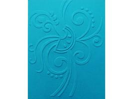 Sizzix Large Flourish Background Embossing Folder, Great for Card Making!