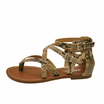 Soda PERFECT-S Natural Python Women's Strappy Criss Cross Gladiator Sandals - $28.95+
