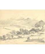 Marcus Adams - Early 20th Century Graphite Drawing, Hills - $16.54